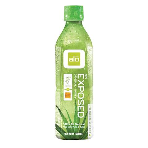 Alo Original Exposed Aloe Vera Juice Drink - Case of 12 - 16.9 fl oz.