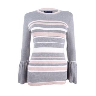 Tommy Hilfiger Women's Peplum-Sleeve Sweater - grey melange