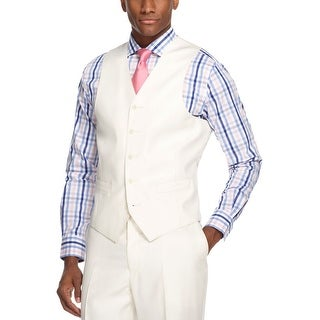 Sean John Cream Stripes Vest Classic Fit - Suit Separates