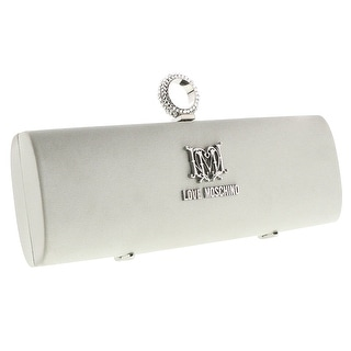 Moschino JC4225 0902 Silver Knuckle Clutch