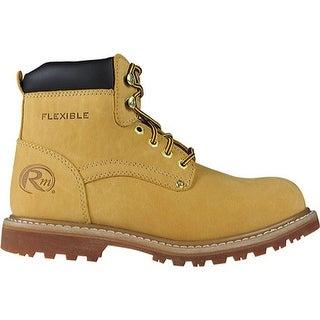 """Roadmate Boot Co. Men's 647 6"""" Padded Collar Steel Toe Work Boot Honey Nubuck"""