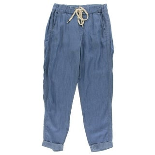 Splendid Womens Ankle Pants Chambray Lace-Up
