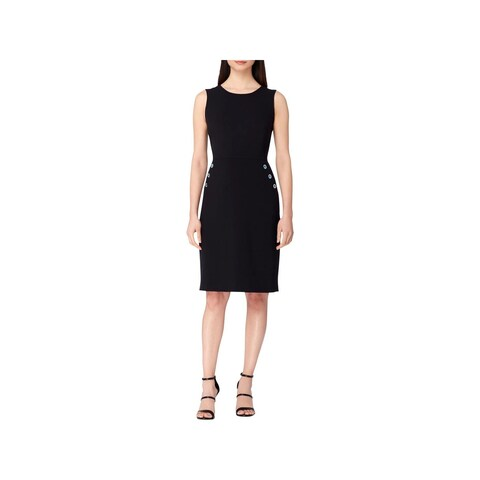 Tahari ASL Womens Wear to Work Dress Grommet Detail Sleeveless
