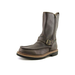Georgia Boot Side Zip Moc-Toe Wellington   Round Toe Synthetic  Boot