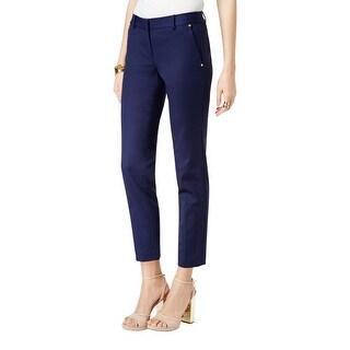 MICHAEL Michael Kors Womens Dress Pants Studded Pocket Trim High Rise