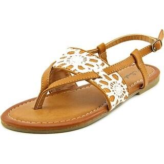 Sarah Jayne Laveran Open Toe Canvas Sandals