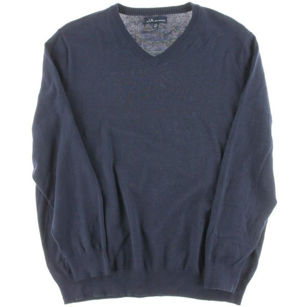 John Ashford Mens Pullover Sweater Long Sleeves V-Neck