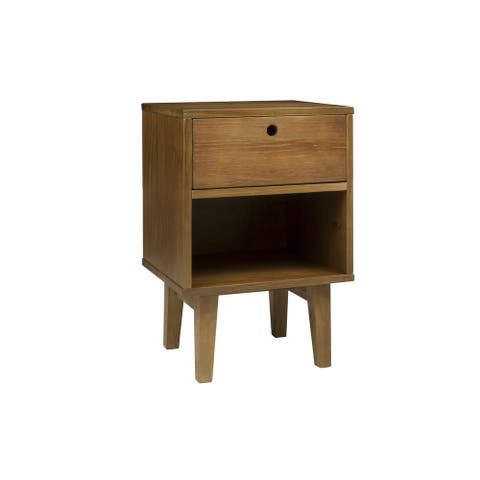 Memomad Charme Solid Wood 1 Drawer Nightstand