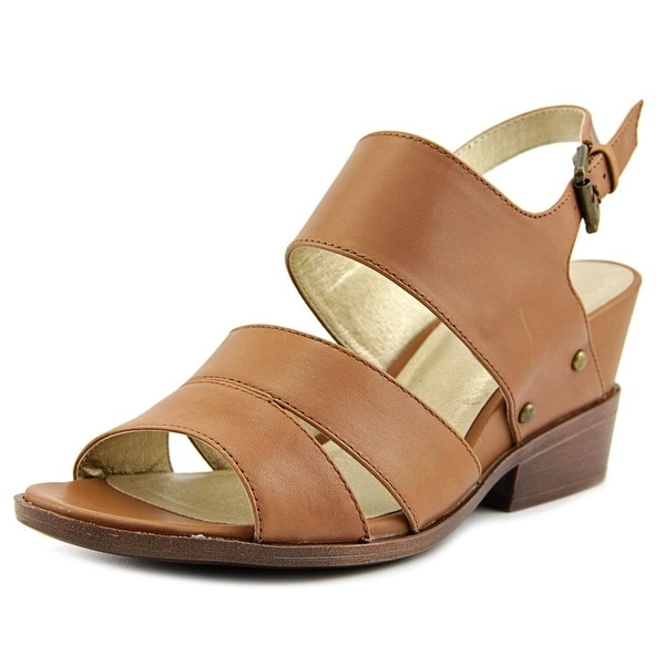 White Mountain Saute Open-Toe Leather Slingback Sandal