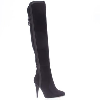 MICHAEL Michael Kors Delaney Thigh High Heeled Dress Boots - Black