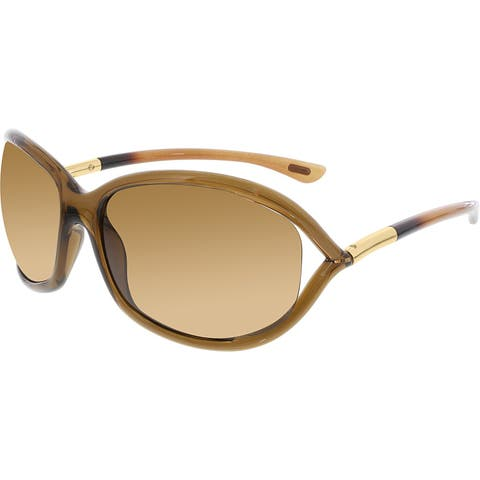 e6680aff52b Tom Ford Women s Polarized Jennifer FT0008-48H-61 Brown Oval Sunglasses
