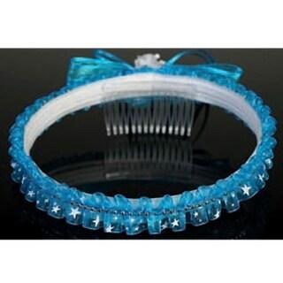 Angels Garment Girls Blue Sheer Star Ribbon Bow Wreath Communion