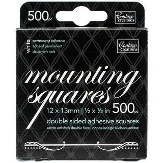 """Couture Creations Double-Sided Mounting Squares 500/Pkg-.5""""X.5"""" White, Permanent"""