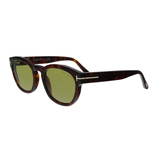 8e739f6d24 Shop Tom Ford FT0590 52N Bryan-02 Havana Square Sunglasses - No Size ...
