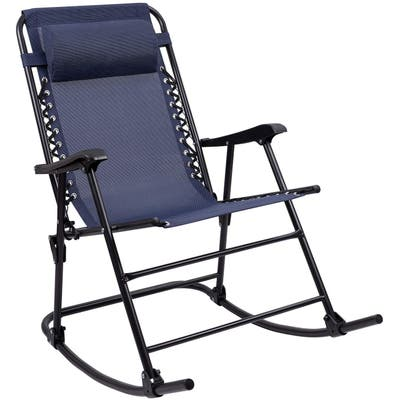 Homall Patio Rocking Chair Zero Gravity Chair Outdoor Folding Recliner Foldable Lounge Chair Outdoor Pool Chair