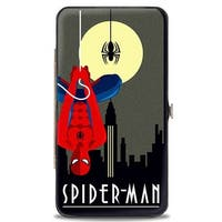 Marvel Comics Art Deco Full Moon Spider Man Skyline Hinged Wallet - One Size Fits most