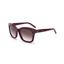 Chloe Women's Square Oversized Sunglasses Brick/Gold - Small
