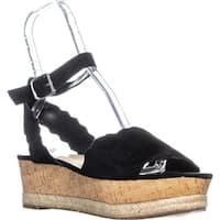 Marc Fisher Faitful Platform Espadrilles Sandals, Black Suede - 11 us