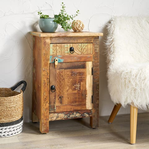 Wittwer Boho Handcrafted Distressed End Table by Christopher Knight Home