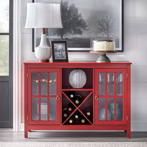 Simple Living Portland Glass Wine Buffet