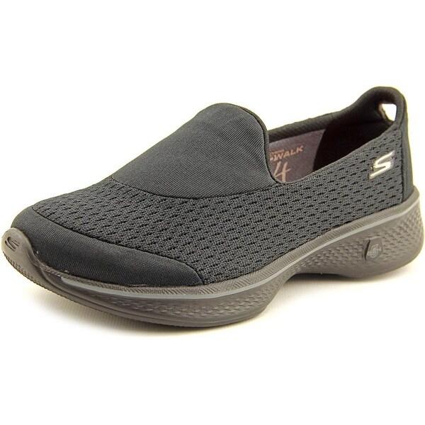 Skechers Go Walk 4-Pursuit Women Round Toe Canvas Black Walking Shoe