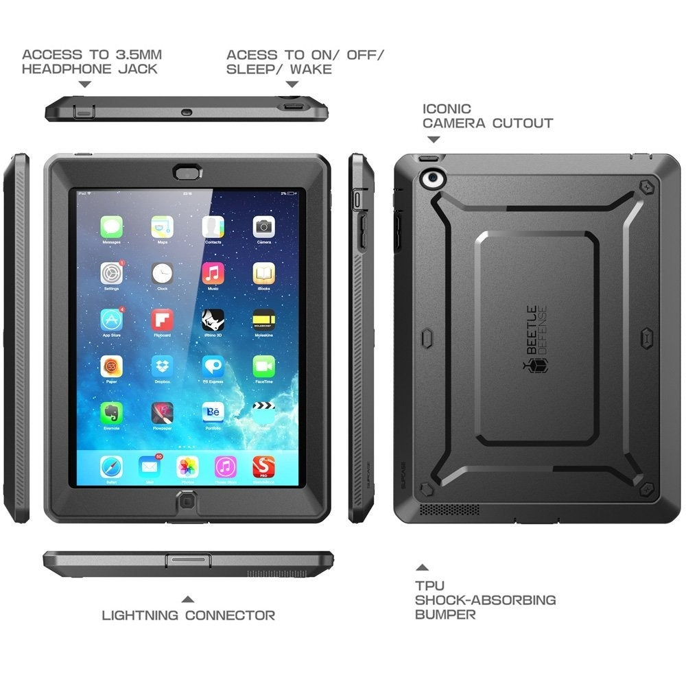 iPad 2//3//4 Case SUPCASE Case Cover Unicorn Beetle PRO Built-in Screen Protector