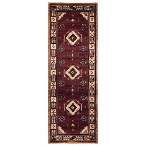 Westfield Home Graham Liberty Border Hand-Carved Area Rug