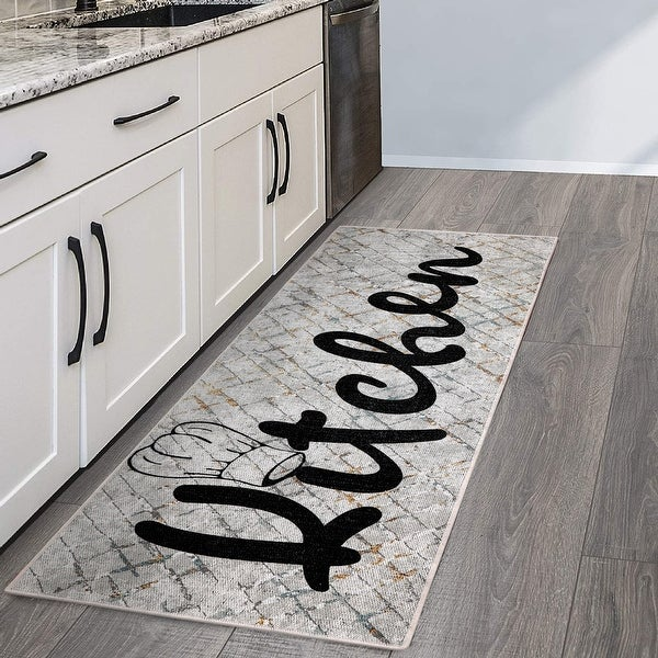 Sussexhome Non Skid Washable Ultra Thin Cotton Kitchen Runner Rug 20 X 59 Overstock 32433191