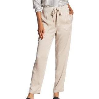 Vince NEW Beige Stucco Women's Size Large L Drawstring Pull On Pants