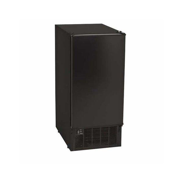 """Koldfront KIM450 15"""" Wide 25 Lbs. Capacity Built-In Ice Maker with 45 Lbs. Daily Clear Ice Production - Black - N/A"""