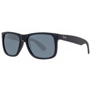Ray Ban Justin RB4165 622/2V 55mm Black Polarized Blue Classic Sunglasses - 54mm-16mm-145mm