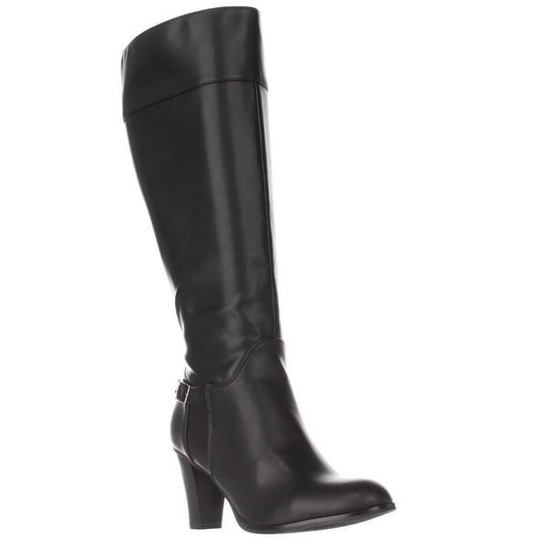 GB35 Boelyn Wide Calf Knee High Dress Boots, Black