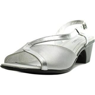 Easy Street Sanibel Women N/S Open-Toe Canvas Slingback Heel