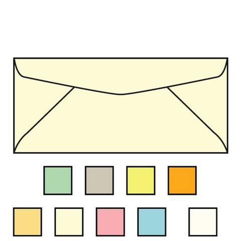 """#9 Regular Envelopes, 3-7/8"""" x 8-7/8"""", 24#, Recycled, Pastel, Acid Free, Diagonal Seam, No Window (Box of 500)"""