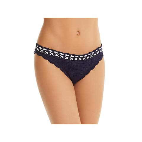 Shoshanna Womens Crochet Scalloped-Hem Swim Bottom Separates