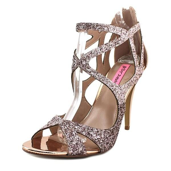 Betsey Johnson Raqui Blush Glitter Sandals