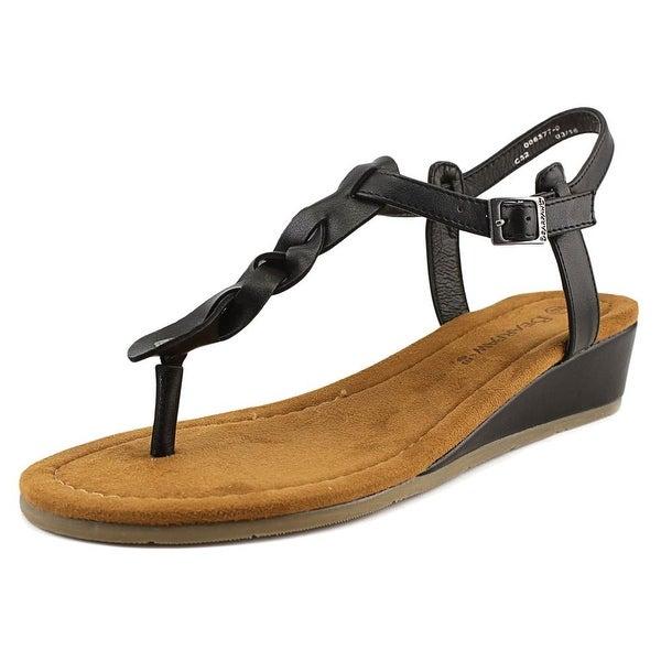 Bearpaw Gia Open Toe Suede Thong Sandal