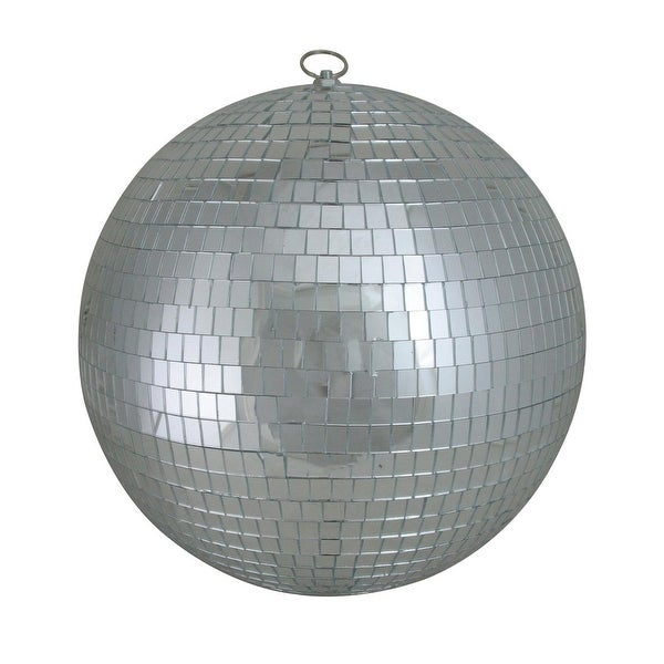 "Silver Splendor Mirrored Glass Disco Ball Christmas Ornaments 12"" (300mm)"