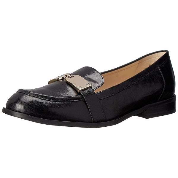 Nine West Womens TownHall Leather Almond Toe Loafers