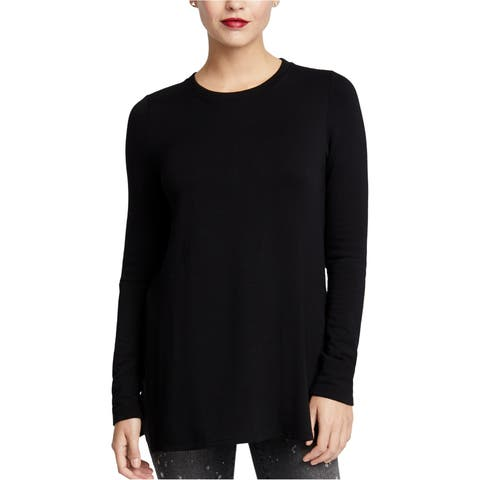 Rachel Roy Womens Split-Sleeve Basic T-Shirt