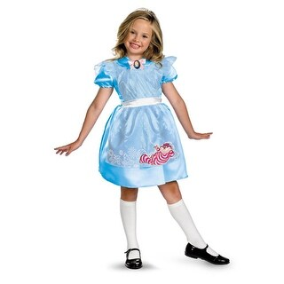 Classic Girls Alice in Wonderland Halloween Costumes - small (size 4-6x)
