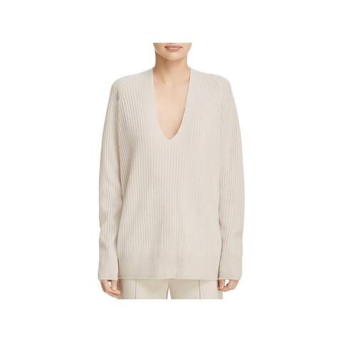 Vince Womens Pullover Sweater Wool Raglan Sleeves