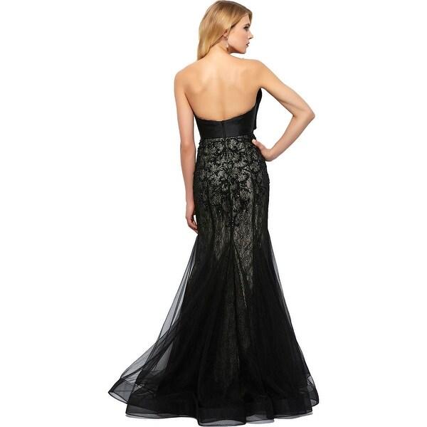 Mac Duggal Womens Lace Beaded Formal Dress   19678804