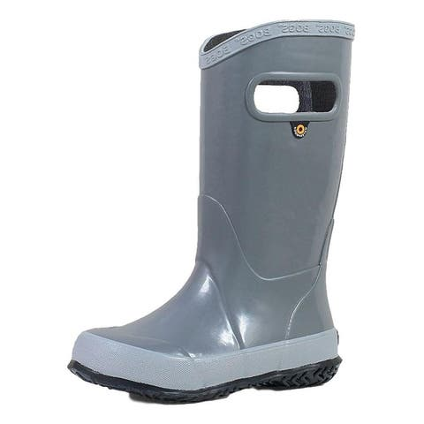Bogs Outdoor Boots Girls Rainboot Solid Pull On Waterproof