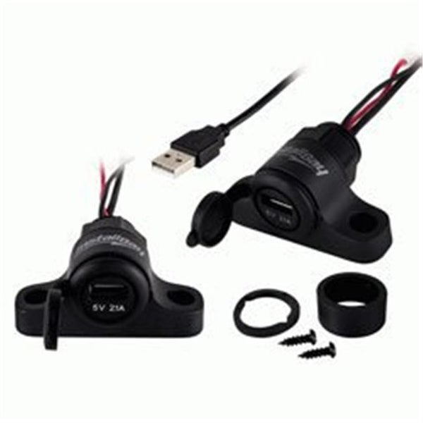 Install Bay IBR78 Pass Through Flush Mount USB Socket with 1A Charging