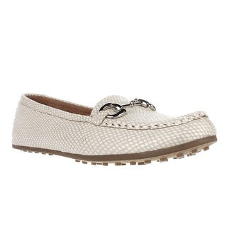 Aerosoles Drive Through Slip-On Loafers - White Snake