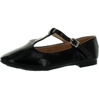 Anna Girls Triss-23K Shimmer T Strap Fashion Dress Flats Shoes