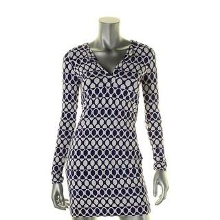 Diane Von Furstenberg Womens Wear to Work Dress Pattern V-Neck - 0
