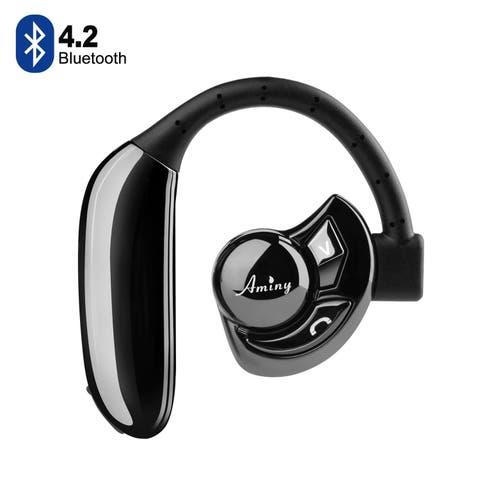 Bluetooth Wireless Headset Stereo Headphone HD Wireless Bluetooth Headset - 2 Long Last Lasting Batteries,color Black