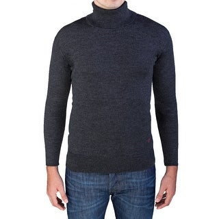 Valentino Men's Turtleneck Sweater Charcoal Grey